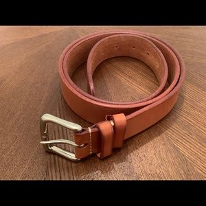 Genuine Italian Leather Felisi Belt Chromed Buckle